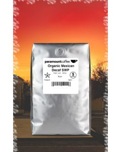 Organic Mexican Decaf, SWP, 5#  Whole Bean Coffee