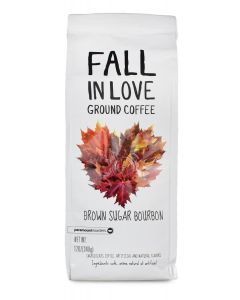 Fall In Love, Brown Sugar Bourbon, Ground Coffee, 12 oz package