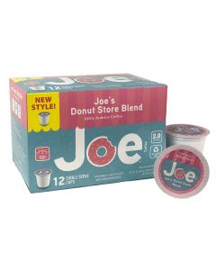 Joe's Donut Store Blend, Single Serve Pods, 12 count, NEW Recyclable Plastic Cups!