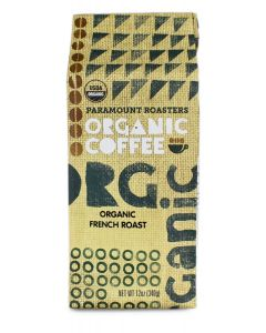 Organic French Roast Coffee 12 Oz Ground Package