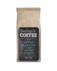 Today's Coffee, Vanilla Nut Cream, 12 oz Ground Package