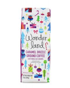 Wonderland, Caramel Drizzle Ground Coffee, 12 oz Package